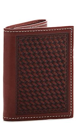 Cowboy Chrome Men's Tri-Fold Basketweave Wallet