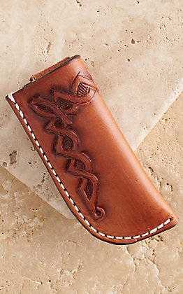 Vik Leather Sheaths Celtic Marco Oil Tanned Leather Hand Tooled Knife Sheath