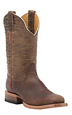 Cinch Men's Mad Dog Tan with Distressed Brown Rio Top Square Toe Western Boots