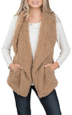 Anne French Women's Cocoa Faux Fur Vest