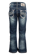 Charme Girls Thick Stitch on Open Pocket Boot Cut Jeans