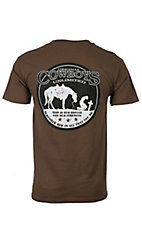Cowboys Unlimited Men's Brown Kneeling Cowboy Short Sleeve Tee
