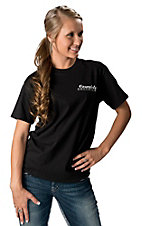 Cowgirls Unlimited Women's Black Dream Big Work Hard Have Faith T-Shirt