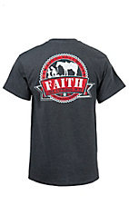 Cowboys Unlimited Men's Charcoal My Shepherd Short Sleeve Tee