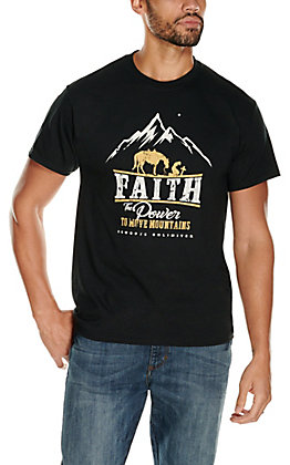 Moss Brothers Cowboys Unlimited Men's Black The Power Short Sleeve T-Shirt