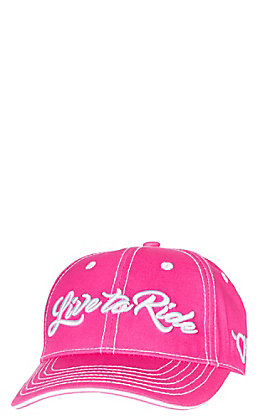 Cowgirl Hardware Women's Pink Live to Ride Cap