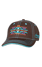 Cowgirl Hardware Women's Bright Aztec Brown Cap