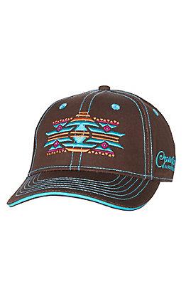 Cowgirl Hardware Women's Bright Aztec Brown Cap