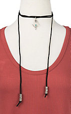 Ranch Designs Black with Silver Arrow Pendant Choker Necklace