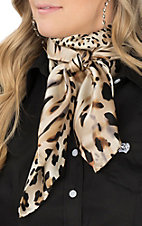 Charmeuse Leopard Silk Wild Rags Scarf