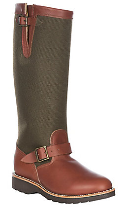 Chippewa Sunjo Women's Brown and Olive Snake Boots