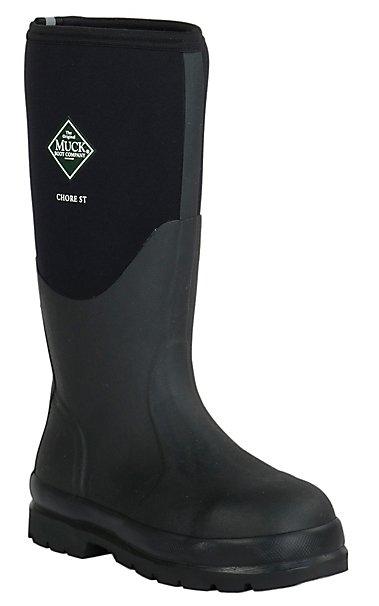 Muck Boot Company Men's Black Chore Classic Hi Steel Toe Water ...