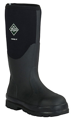 Muck Boot Company Men's Black Chore Classic Hi Steel Toe Water Proof Work Boot