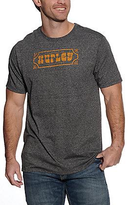 Hurley Men's Charcoal Parlay Short Sleeve T-Shirt