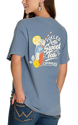 Cavender's Women's Blue Fueled by Sweet Tea Short Sleeve T-Shirt