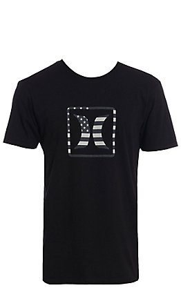 Hurley Men's Premium Black USA Americana Short Sleeve T-Shirt