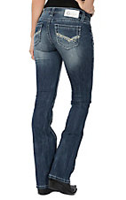 Charme Women's Medium Wash Heavy Stitched Boot Cut Jeans