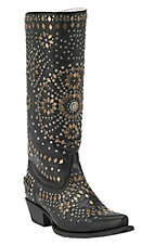 Johnny Ringo Women's Black Studelicious Snip Toe Western Boots