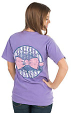 Live Oak Brand Women's Violet Bowtie Circle Short Sleeve Tee