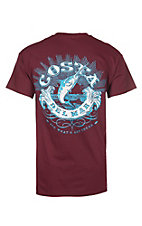 Costa Men's Classic Maroon Graphic S/S T-Shirt