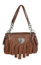 Blazin Roxx Women's Brown with Fringe Cavender's Exclusive Purse