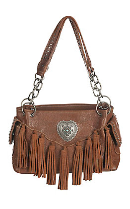 Blazin Roxx Cavender's Exclusive Women's Brown with Fringe Purse