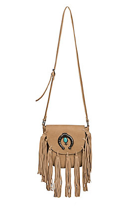 Blazin Roxx Women's Light Tan Shelby Fringe Shoulder Bag