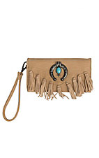 Blazin Roxx Women's Light Tan Shelby Fringe Wallet