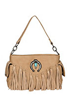 Blazin Roxx Women's Natural Shelby Fringe Satchel