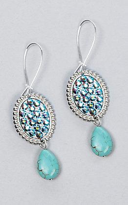 Pink Panache Mini Oval Rhinestone Earrings