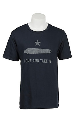 Mason Jar Label Men's Navy Come and Take it Short Sleeve T Shirt
