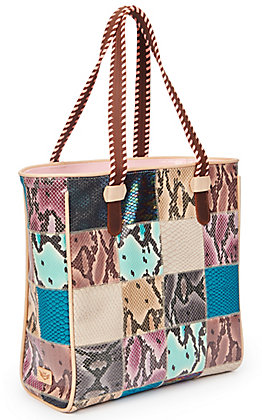 Consuela Sadie Multi-Snake Patch Classic Tote Bag