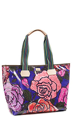 Consuela Royal Floral Zipper Tote