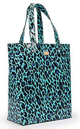Consuela Gem Turquoise Leopard Print Basic Grab N Go Bag