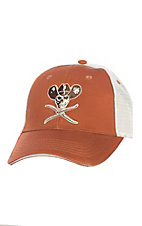 Twisted X Sunburn Khaki Skull Velcro Back Cap