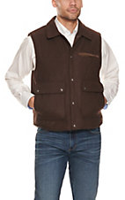 Cripple Creek Chocolate Brown Wool Vest
