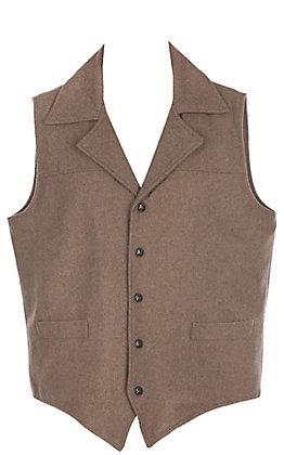 Cripple Creek Men's Heather Oatmeal Wool Vest