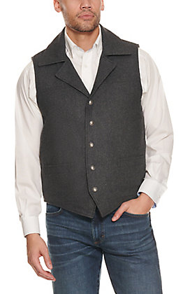 Cripple Creek Men's Black Wool Concealed Carry Vest