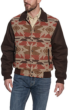 Cripple Creek Men's Brown Multi Navajo Blanket Jacket