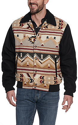 Cripple Creek Men's Black Navajo Blanket Jacket