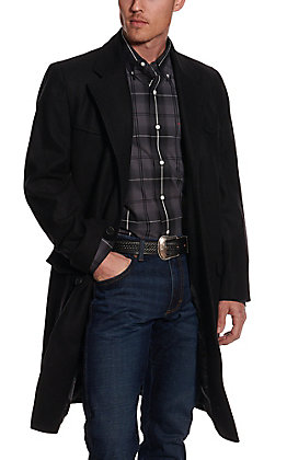 Cripple Creek Men's Melton Black Wool Overcoat