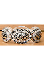 Amber's Allie Silver & Black Antiqued Crystal Stretch Bracelet