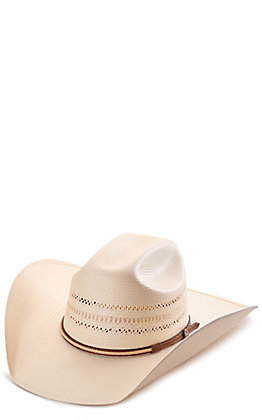 Rafter C ProFlex45 Two-Toned Shantung Cattleman Vented Straw Hat
