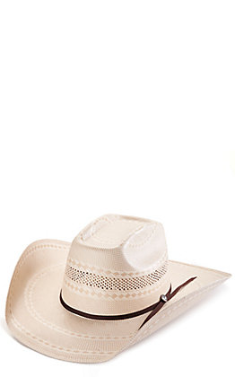 Rafter C Shantung Ivory and Tan Brick Crown Cowboy Hat