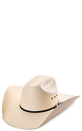 Rafter C Shantung Ivory Cattleman Crown Straw Hat