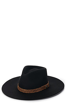 Rockin' C Women's Black with Leopard Band Western Hat