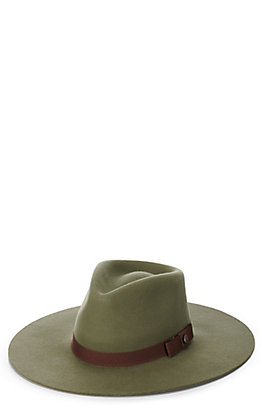 Rockin' C Women's Olive with Brown Grosgrain Ribbon Western Hat