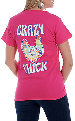 Girlie Girl Originals Pink Crazy Chick Short Sleeve T-Shirt
