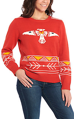 Cotton & Rye Outfitters Women's Rust Thunderbird Sweater