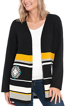 Cotton & Rye Outfitters Women's Aztec Motif Cardigan